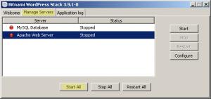 Bitnami wordpress manager tool