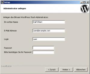 Bitnami-Installation: Administrator