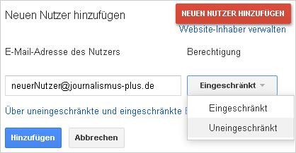 """""""Nutzer hinzufügen"""""""