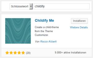 """Plugin """"Childify Me"""" installieren"""